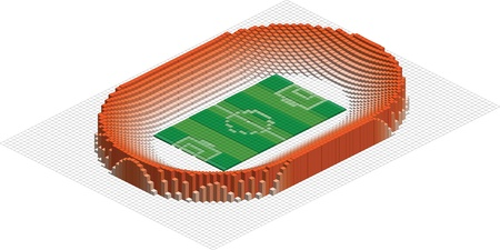 abstract Olympic football stadium.  Vector
