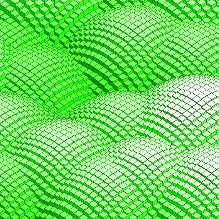 abstract 3d vector background green mountains Illustration