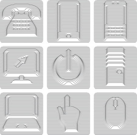 communications icons set Vector