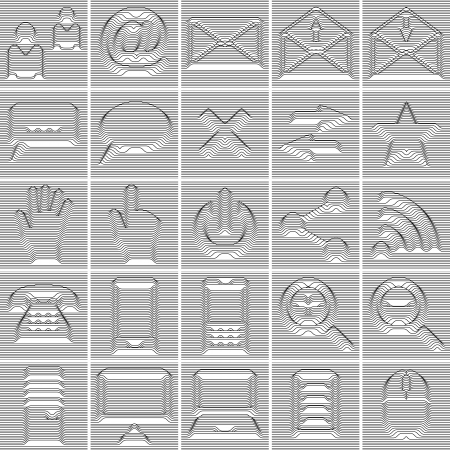 25 Isolated Internet and Communication icons set Vector