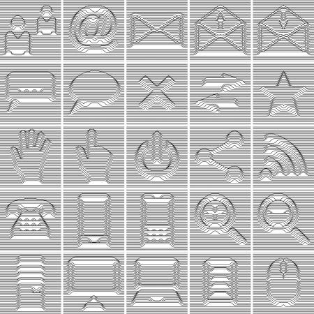 25 Isolated Internet and Communication icons set Illustration