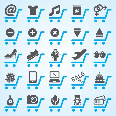 Shopping and E-commerce Online Icons Set