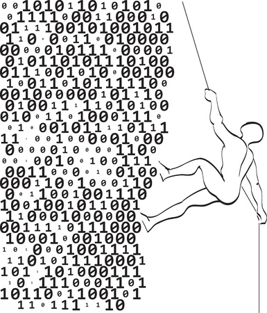 binary matrix: climber climbs a mountain of digits
