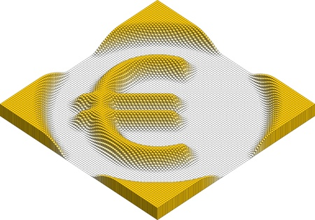 euro currency symbol made of cubes