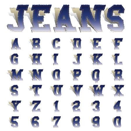 jeans font