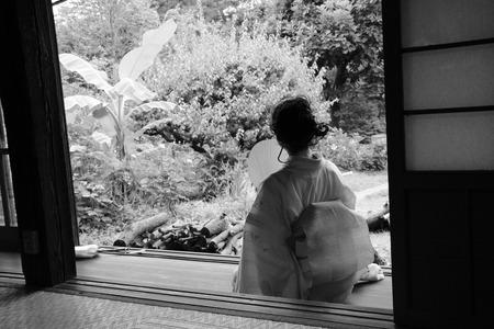 ryokan: Woman in kimono