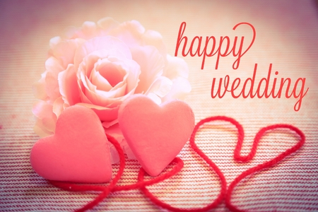 幸せな結婚式 写真素材