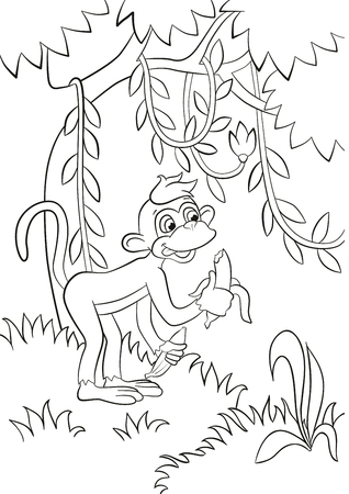 Großzügig Malvorlagen Von Affen In Bäumen Fotos - Ideen färben ...