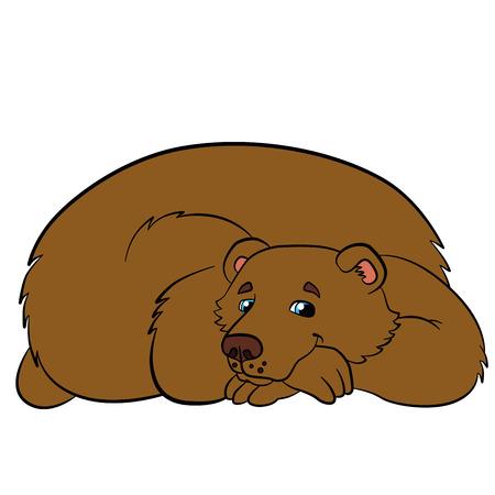cherish: Cartoon animals for kids. Cute bear smiles. Illustration