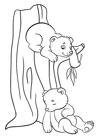 baby forest animals coloring pages