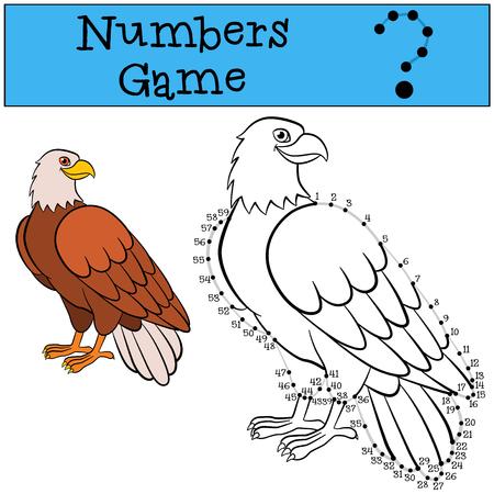 Juegos Educativos Para Los Niños: Los Números Juego Con Contorno ...