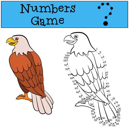 Juegos Educativos Para Los Niños: Números Del Partido. águila Calva ...