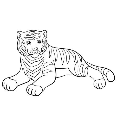 Großartig Süße Tiger Malvorlagen Galerie - Ideen färben - blsbooks.com