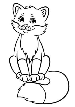 Fox Lächeln Cartoon Malvorlagen Lizenzfrei Nutzbare Vektorgrafiken