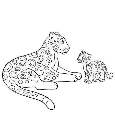 Páginas Para Colorear. Animales Salvajes. Pequeño Tigre De Bebé ...
