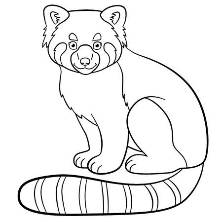 Schattige Kleurplaten Van Eten.Kleurplaat Rode Panda Twee Kleine Schattige Rode Panda