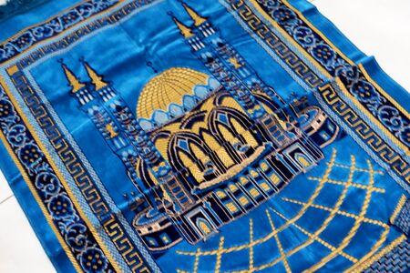 blue prayer rug
