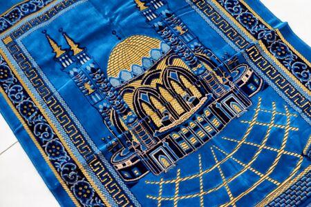 blue prayer rug Stock Photo