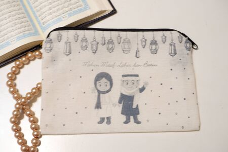 pretty small pouch as a background