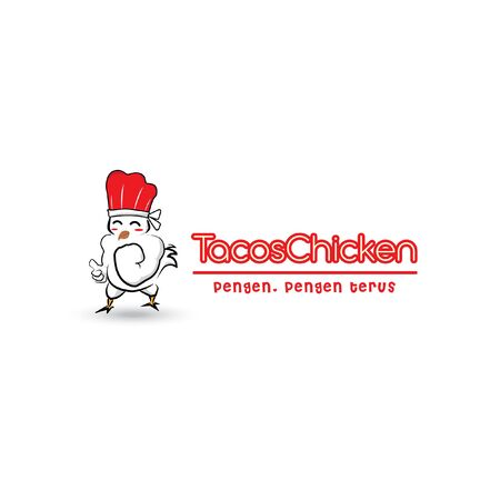 rooster logo cooking with vector design