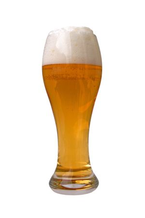 glass of beer isolated Stock Photo - 4332422
