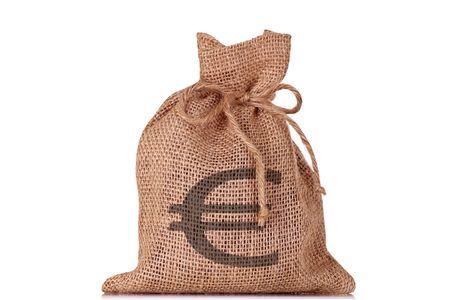 Euro Money Bag Stock Photo - 5129609