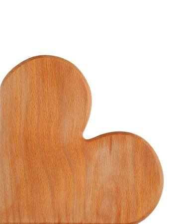 marqueteria: fina oliva madera tabl�n de anuncios aislado sobre fondo blanco