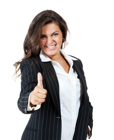 Business young woman gives the thumbs up. Stock Photo - 7639275