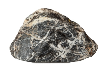 big rock isolated on a white background