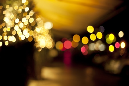 Defocus of golden lights in Hotel Lobby.  Stock Photo - 8567205