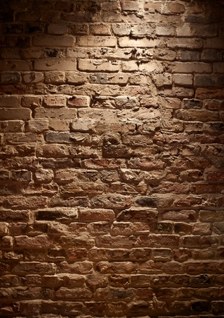 brick facades: rough Brick Wall full frame