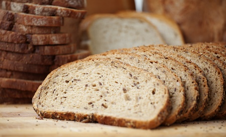 Delicious, fresh whole grain Sliced bread  Stock Photo - 12673508