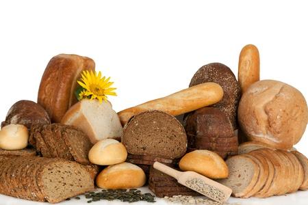 baked  goods: Assortment of baked goods, bread and bakeries-studio shot.  Stock Photo