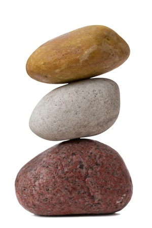 multy: Balancing of pebbles  Isolated on White