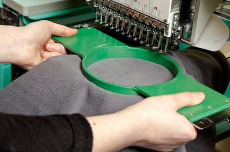 textile industry: Textile embroidery machine in Textile Industry