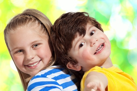 multy: Brother And Sister Together For Ever on multy color Background