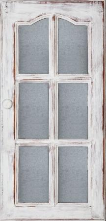 Eine alte Holztür Panel mit Glas weißer Farbe und Grunge, Full Frame Lizenzfreie Bilder