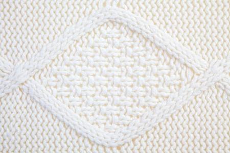 White Knitted wool background, Full Frame Stock Photo - 16383384