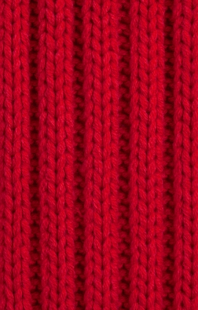 Red Knitted wool background, Full Frame Stock Photo - 16383386