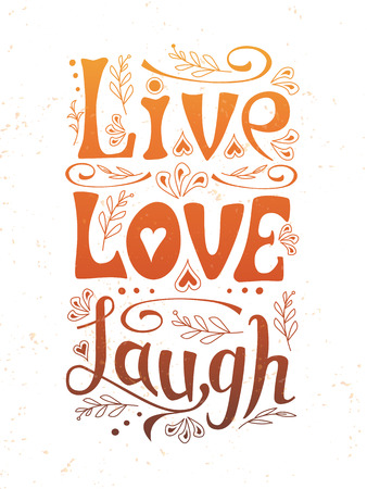 love life: Hand lettering typography poster. Handwritten banner Illustration