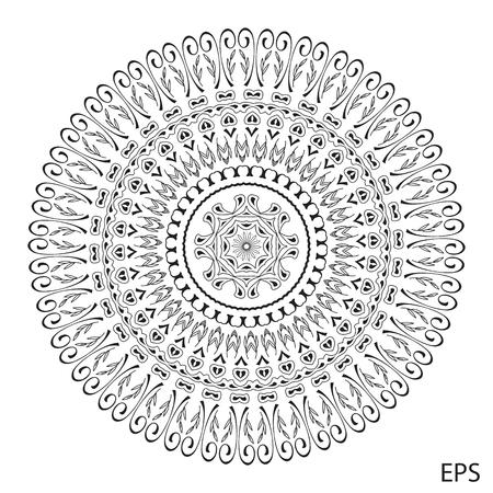 Mandala. Round Ornament Pattern. Vintage decorative elements. Hand drawn background. Islam, Arabic, Indian ottoman motifs Illustration