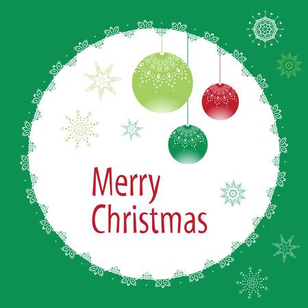 Christmas Greeting card. Vector illustraaton