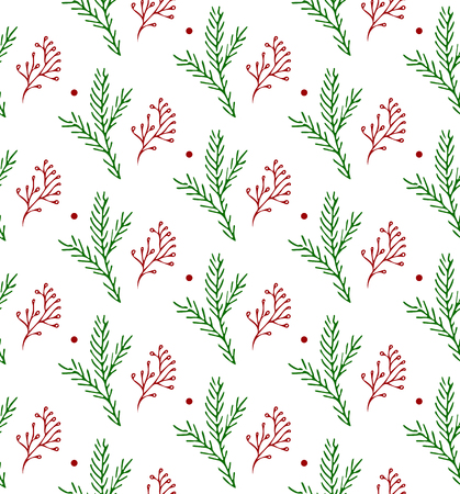 Seamless hand-drawn Christmas and New Year pattern.Vector abstract Hand drawn background for design and decoration textile, covers, package, wrapping paper.