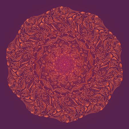 Mandala. Rond ornament patroon. Vintage decoratieve elementen. Hand getrokken achtergrond. Islam, Arabisch, Indiaas Ottomaanse motieven Stock Illustratie