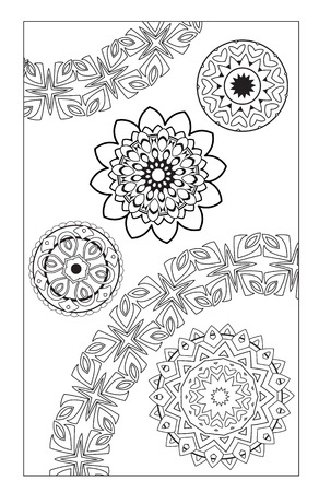 Coloring pages. Round Ornament. Vintage decorative elements. Hand drawn background. Islam, Arabic, Indian ottoman motifs