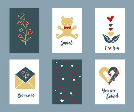 バレンタインデー カード セットをレタリング