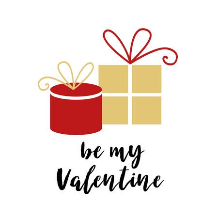 Valentijnsdag belettering kaart