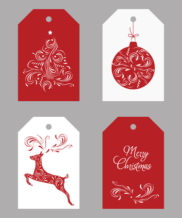Christmas Tags design Çizim