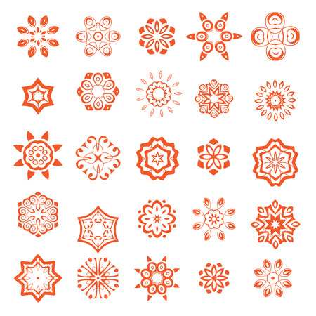 Set of mandalas Illustration