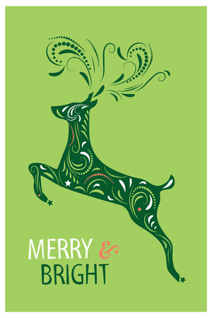 Christmas card design. Vector illustration Çizim